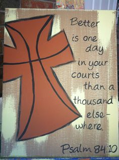 Basketball cross by FaithfullyFramed on Etsy, $20.00