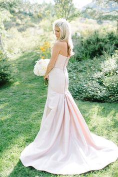Beautiful blush gown:Photography: Kate Holstein