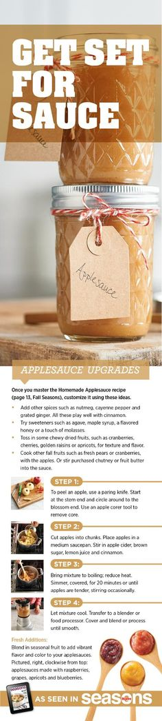 Here are a few tips for upping your homemade applesauce game.