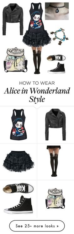 """""""One item tag"""" by shadow-cheshire on Polyvore featuring Disney, Glamorous and Converse"""