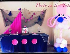 "Nautical Girl / Birthday ""First Birthday Party"" 