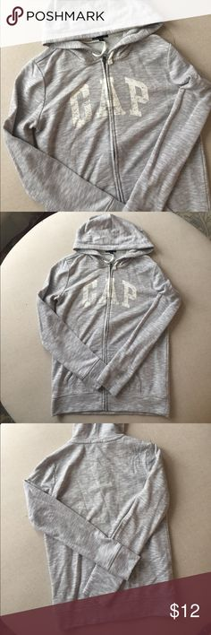 Gap hoodie Gap marled grey Zip up hoodie GAP Tops Sweatshirts & Hoodies