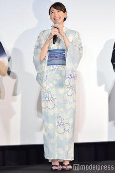 #浴衣#新垣結衣#ガッキー Japanese Outfits, Yukata, Photo Reference, Kimono, High Neck Dress, Beautiful Women, Kawaii, Actresses, Portrait