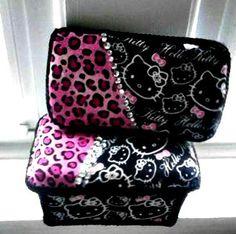 Hello Kitty WipeCase Set/ Hello Kitty Travel case/ Hello Kitty Nursery case/ Hello Kitty baby shower gift on Etsy, $35.00