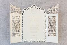 Laser Cut Romantic Gate Wedding Invitation by ElegantLaserDesigns