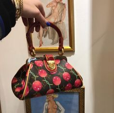 Louis Vuitton cherry mini vintage bag fashion bags cute little lv bag trends My Bags, Purses And Bags, Bling Bling, Vogue, Vintage Handbags, Vintage Bag, Little Bag, Cute Bags, Street Style