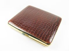 Vintage Cigarette Case Made in England  Faux Reptile by MyChouChou, $24.00