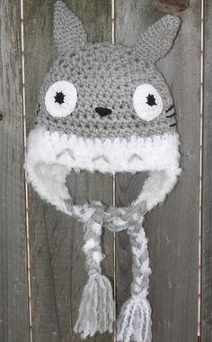 Crochet Totoro hat -Photo prop- Any size-. $21.99, via Etsy. Crochet Totoro, Diy Crochet, Crochet Hats, Geek Crafts, Cute Crafts, Totoro Hat, Hat Making, Studio Ghibli, Baby Things