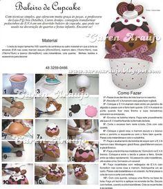 Caramelera Cupcake PAP  #cupcakes #goma eva #foamy