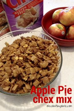 All About the Apple Pie Chex Mix #Recipe
