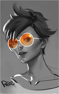 Casual Tracer by Peter Xiao Tracer Comic, Tracer Fanart, Overwatch Fan Art, Overwatch Drawings, Heroes Of The Storm, Female Character Design, Starcraft, Video Game Art, Pretty Art