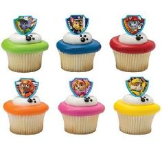 PAW PATROL Rescue Dog Doggie Puppy (24) Birthday Party CupCake Favor Decor Rings