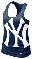 New York Yankees MLB Nike Women's Navy Cotton Racerback Tank