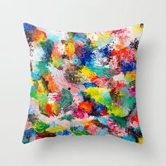 rainforest abstract 1 Throw Pillow by emmaleerose - $20.00