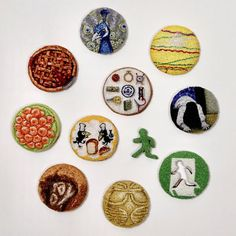 project - ipnot Punch Tool, Hand Embroidery, Embroidery Ideas, Punch Needle, Minis, Decorative Plates, Stitch, Sewing, Projects