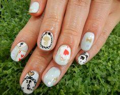 Alice in wonderland theme 2 #nails