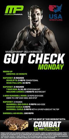 MusclePharm Gut Check Monday Workout