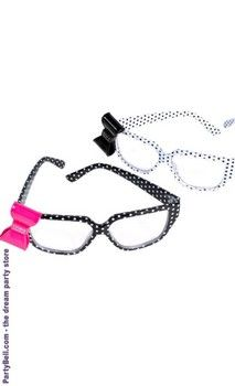 No Lens Kitty  Bow Geek Glasses Black Yellow Goth  Kawaii Emo Punk Cute-