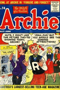 Archie Comics Characters, Archie Comic Books, Joe Kubert, Comic Book Artists, Cool Posters, Comic Covers, Retro, Golden Age, Author