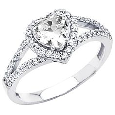 Heart Engagement Ring um... I LOVE THIS....SOOO MUCH!!