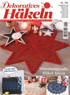Dekoratives Hakeln Обсуждение на LiveInternet - Российский Сервис ОнРCrochet Art, Filet Crochet, Crochet Doilies, Crochet Stitches, Crochet Patterns, Knitting Magazine, Crochet Magazine, Veronika Hug, Christmas Crafts