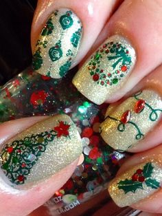 Today, we've made a collection of 30 Cool Christmas Nail Art Ideas' in this post. You will find all the nail designs here are very pretty and cute and can complete your outfits fabulously.