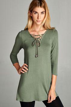 Kelly Brett Boutique - Plus Size Glam Tassel Top Olive, $32.00 (https://www.kellybrettboutique.com/plus-size-glam-tassel-top-olive/)