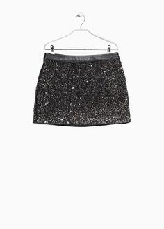 MANGO Minifalda lentejuelas - 49,99€