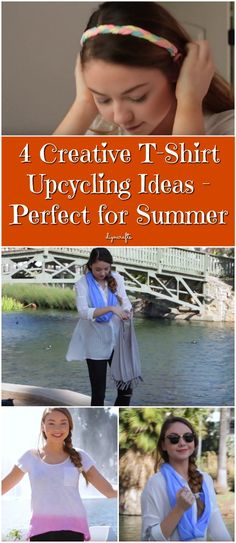 4 Creative T-Shirt Upcycling Ideas - Perfect for Summer - Have you gone through your closet lately? I just did, and I found more old T-shirts than I ever could have imagined. I thought about taking them all to the thrift store, but as I went through them, I remembered all the reasons I've held onto them. Some are sentimental and remind me of some special time in my life. Others just have a great color and I haven't really found anything to replace them. via @vanessacrafting