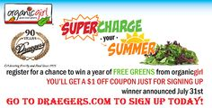 Go to Draegers.com to sign up to win free salad for an entire year!