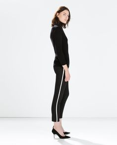 ZARA - SALE - TROUSERS WITH SIDE BAND