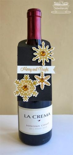 Snowflake Wine Bottle Tag by mrupple - Cards and Paper Crafts at Splitcoaststampers