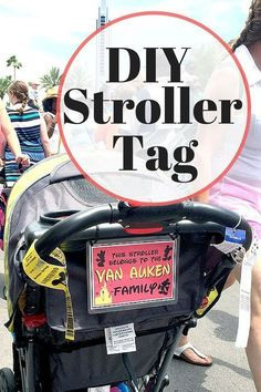 DIY Stroller ID Tag If you like this surprise travel trip. Check others on my surprise vacation board :) Thanks for sharing!DIY Stroller ID Tag Walt Disney World, Voyage Disney World, Disney Family, Disney Parks, Disney Bound, Disney Worlds, Disney Babies, Disney World Vacation Planning, Disney Planning