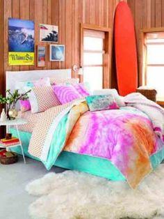 Amazon.com: Teen Vogue Malibu Surfer Twin Comforter Set: Home & Kitchen