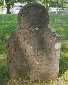 Gravestone of Mary, wife of United Empire Loyalist Lt. Isaac Hatfield, in cemetery at Trinity Anglican Church, Digby, Nova Scotia Anglican Church, Nova Scotia, Cemetery, Empire, Mary, The Unit, Instagram