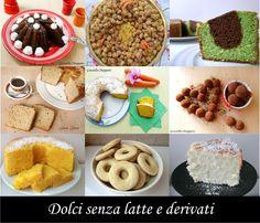 Raccolta+di+dolci+senza+latte+e+derivati+|+Ricette+senza+lattosio