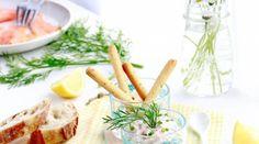 Tartinade au saumon fumé, tofu, aneth et citron