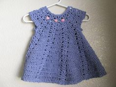 free patterns for baby crochet dresses | My first crocheted baby dress finished!