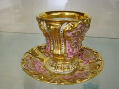 Porcelain coffee cup, c. 1840-1850, probably made in Bohemia. From the East Slovak Museum