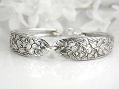 Spoon Bracelet, Spoon Jewelry, Silver Bracelet, Silverware Jewelry, Silverware Bracelet, Antique Spoon Bracelet - NARCISSUS 1935