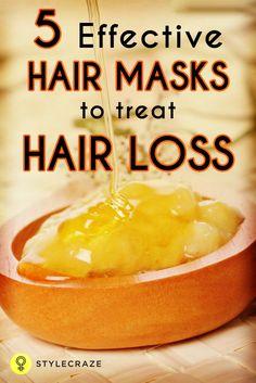 5 Effective hair masks to treat hair loss