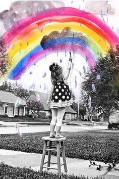 I love this idea of combining child photo with the art that they made...