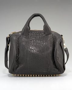Rocco Stud-Bottom Satchel Bag  LOVE. LOVE. LOVE