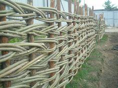 29. Woven Willow Branch Garden Edging