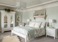 35 Amazingly Pretty Shabby Chic Bedroom Design and Decor Ideas - The Trending House White Rooms, White Bedroom, White Walls, Dream Bedroom, Girls Bedroom, Master Bedroom, Bedrooms, Home Decor Bedroom, Bedroom Furniture