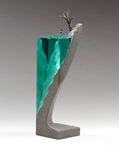 Ben Young combines glass and concrete into surprising works of art