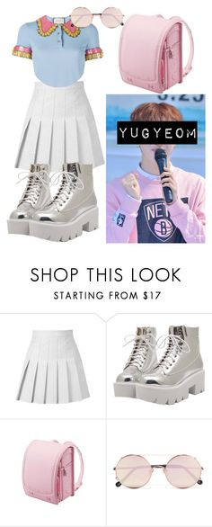 """Kawaii"" by flaviaazevedo2000 ❤ liked on Polyvore featuring Sunday Somewhere, kpop, bias, GOT7 and yugyeom"