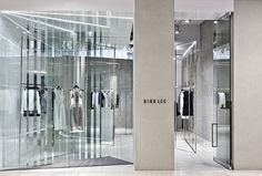Love this modern/minimalist design at the Dion Lee Store in Melbourne By Akin Creative