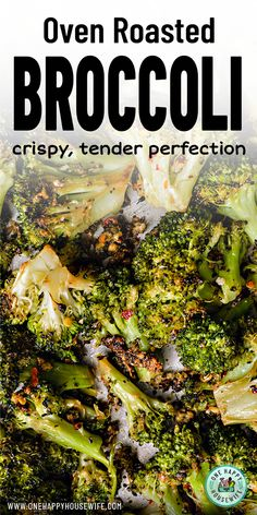 Best Oven Roasted Broccoli This easy to make Oven Roasted Broccoli is a perfect side dish for any meal. Incredibly flavorful and cooked to perfection, it's certain to become your new favorite way to cook broccoli. Healthy Sides, Healthy Side Dishes, Vegetable Dishes, Side Dish Recipes, Veggie Recipes, Vegetarian Recipes, Cooking Recipes, Healthy Broccoli Recipes, Broccoli Cauliflower Recipes