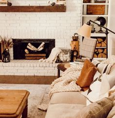 Off Work, Just A Little, My Living Room, White Paints, Hearth, Townhouse, Brick, Corner, Cozy